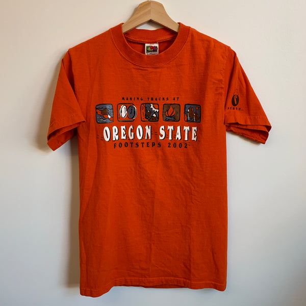 2002 Making Tracks At Oregon State Orange Tee Shirt