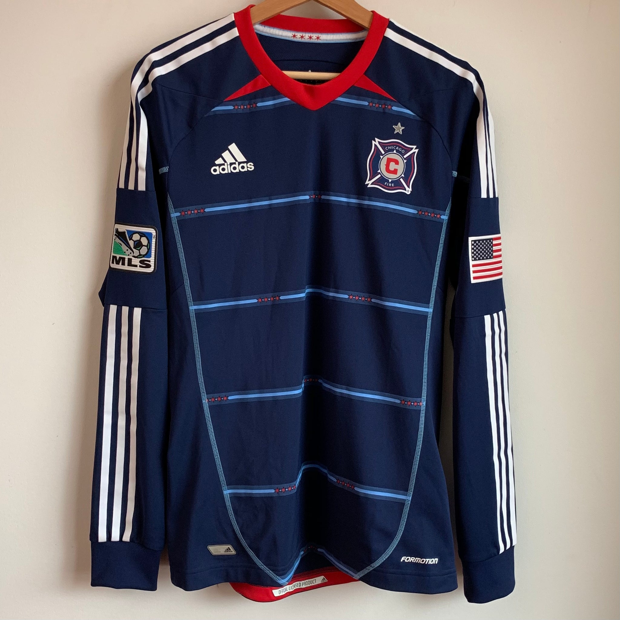 Adidas Chicago Fire Mls Soccer Jersey Laundry