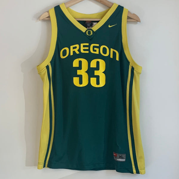 Nike Oregon Ducks Green Basketball Jersey