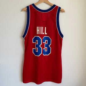 Champion Grant Hill Detroit Pistons Red Basketball Jersey