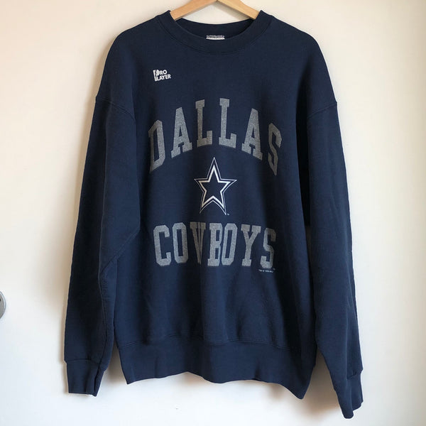 1996 Pro Player Dallas Cowboys Navy Crewneck Sweatshirt