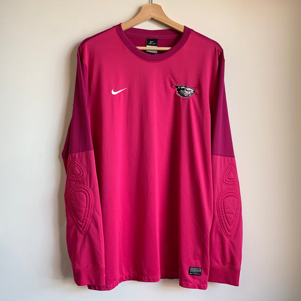 Nike Oregon State OSU Beavers Soccer Team-Issued Pink Goalkeeper Jersey
