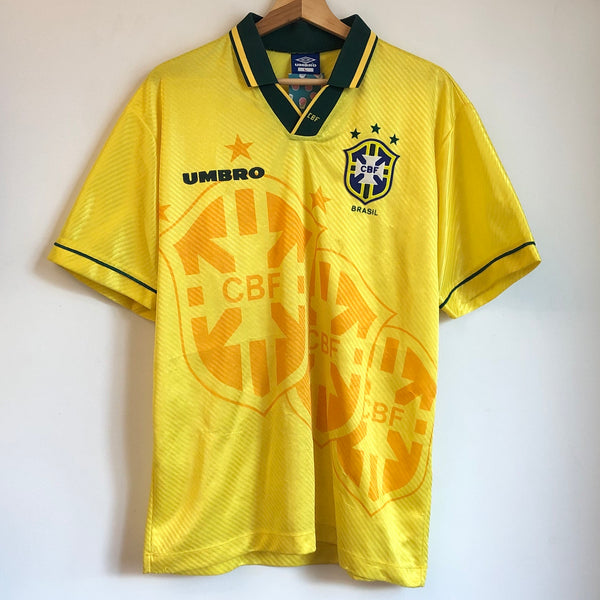 Umbro Brazil 1994/95 Yellow Home Soccer Jersey