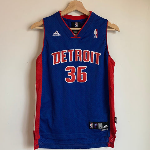 adidas Rasheed Wallace Detroit Pistons Youth Swingman Basketball Jersey