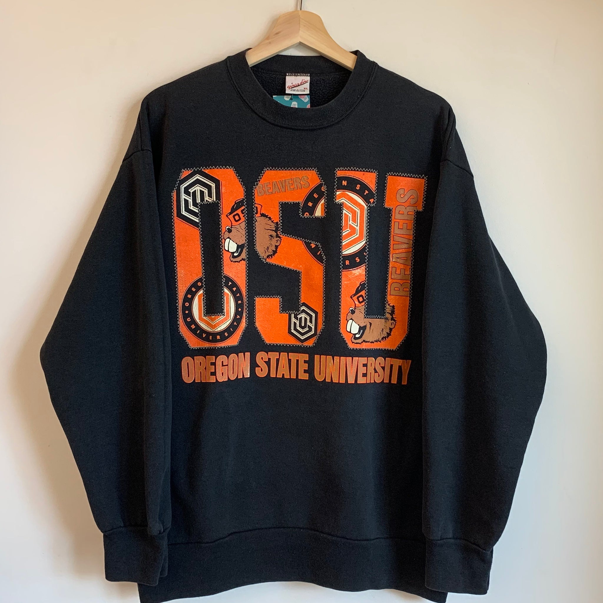 Oregon State OSU Beavers Black Crewneck Sweatshirt