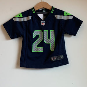 Youth Nike Marshawn Lynch Seattle Seahawks Blue/Green/Gray Football Jersey