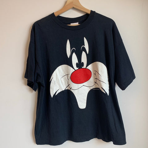 1992 Looney Tunes Sylvester The Cat Tee Shirt