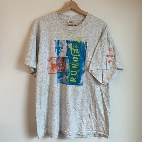Nike Gray Tag 1991 Cascade Run Off Gray Tee Shirt
