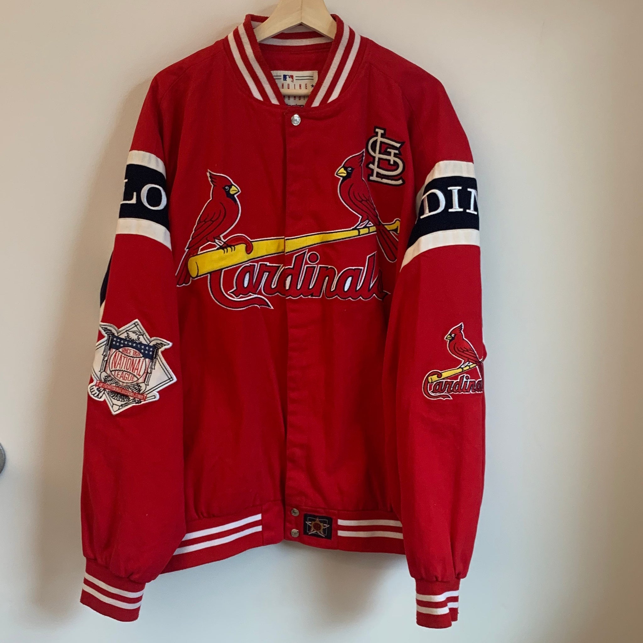 Jeff Hamilton St. Louis Cardinals Red Twill Jacket