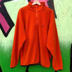 Nautica Orange Fleece Pullover