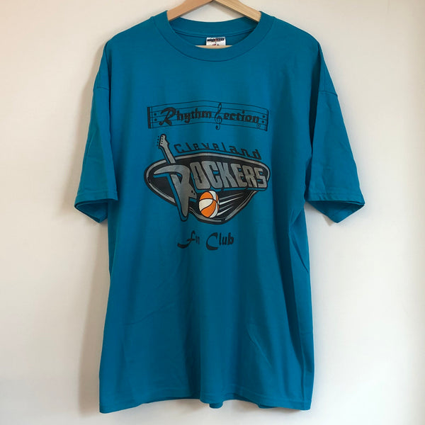 Cleveland Rockers Rhythm Section Fan Club Blue WNBA Tee Shirt