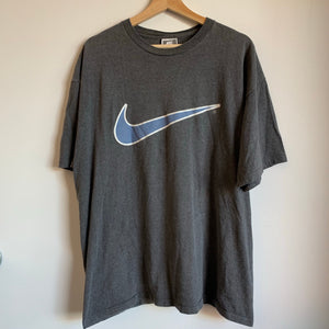Nike Big Swoosh Gray Tee Shirt