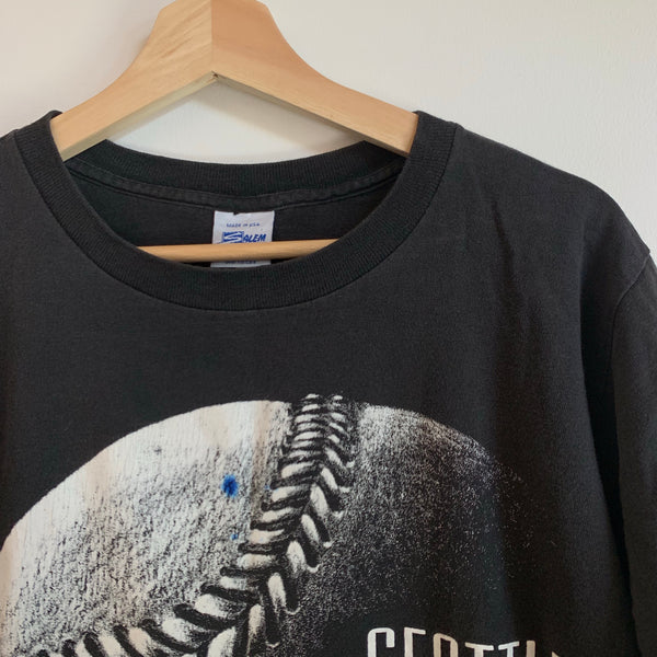 1992 Salem Sportswear Seattle Mariners Black Tee Shirt