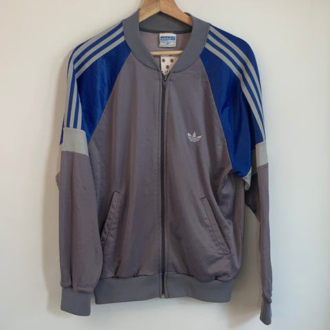 Adidas Gray/Blue/White Track Jacket