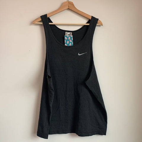 Nike Black Tag Gray Swoosh Black Tanktop