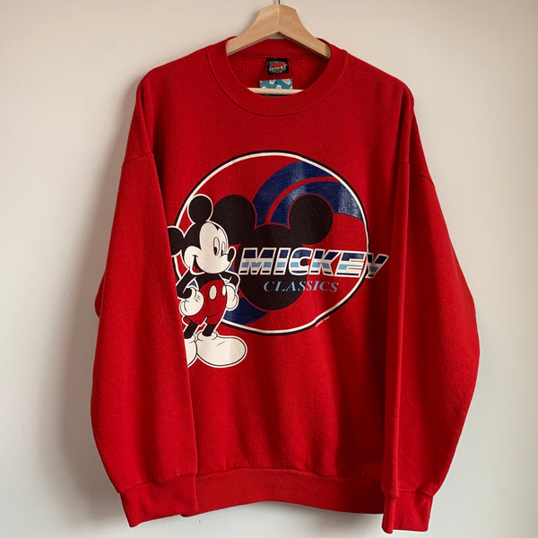 Mickey Mouse Classics Red Crewneck Sweatshirt
