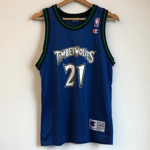 Champion Kevin Garnett Minnesota Timberwolves Blue Youth Basketball Jersey