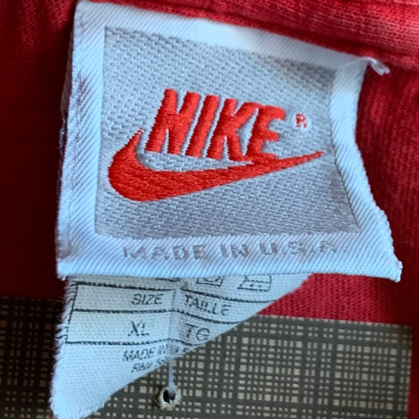 Nike Gray Tag Swoosh Sound Red Tee Shirt