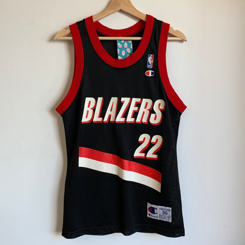Champion Clyde Drexler Portland Trail Blazers Black Basketball Jersey