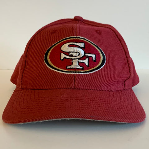 Logo 7 San Francisco 49ers Red Strapback