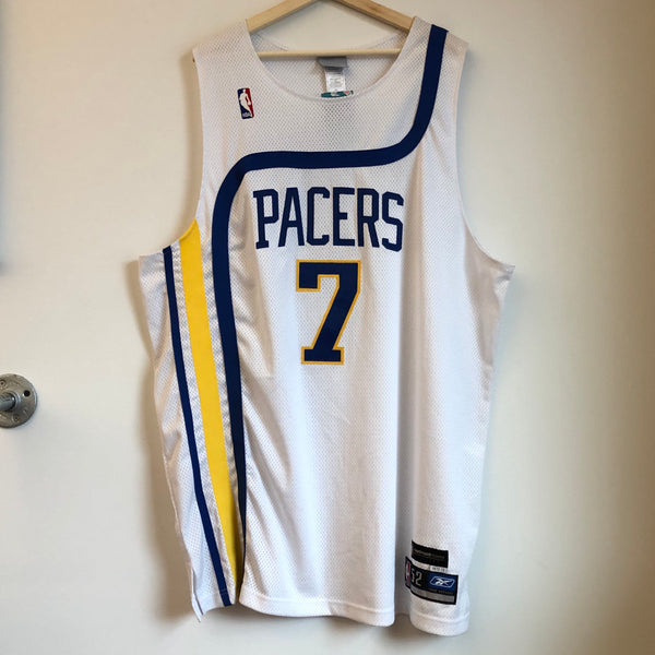 Reebok Jermaine O'Neal Indiana Pacers Authentic White Basketball Jersey
