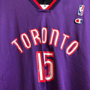 on sale 42007 cc1be Champion Vince Carter Toronto Raptors Purple Basketball ...