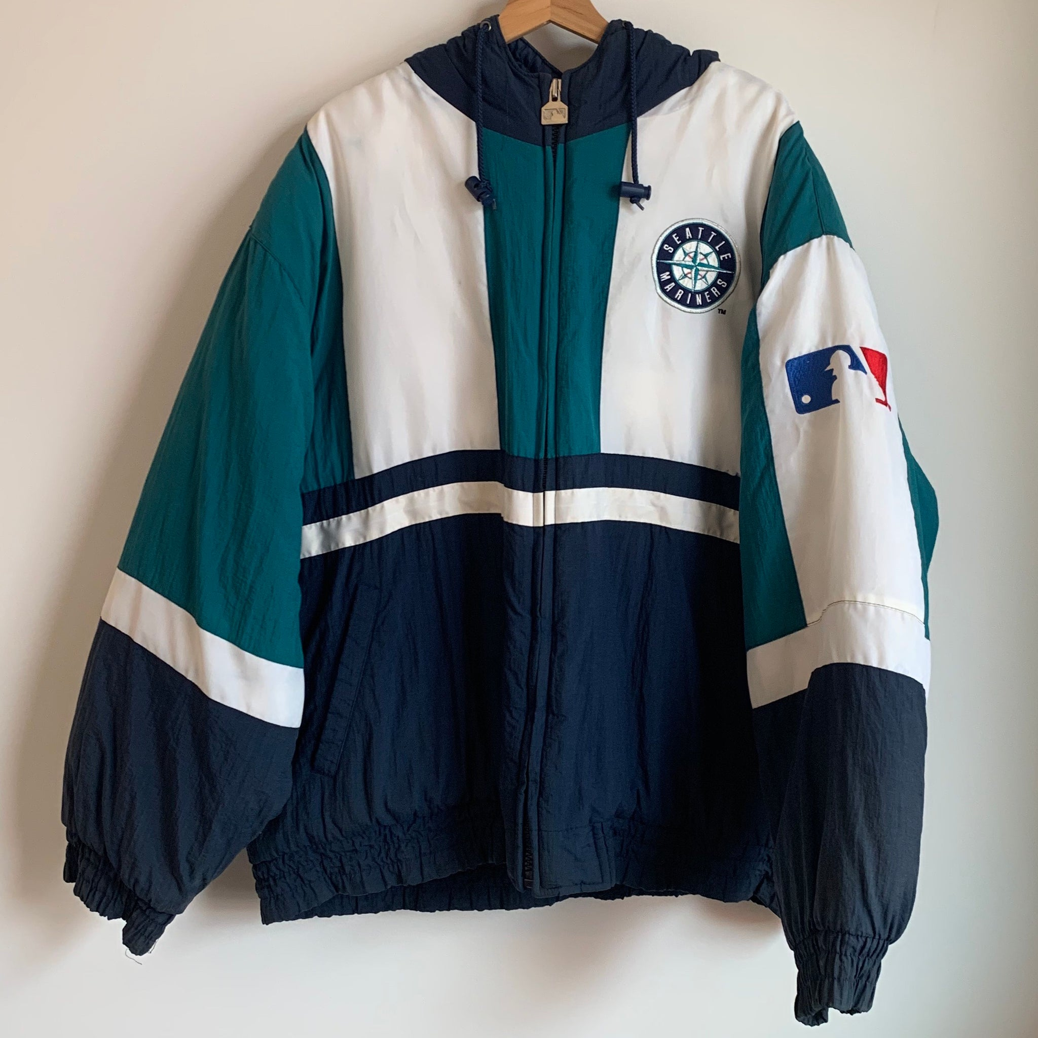 Logo Athletic Seattle Mariners Color Block Parka Jacket