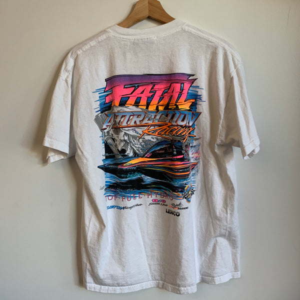 Fatal Attraction Racing White Tee Shirt