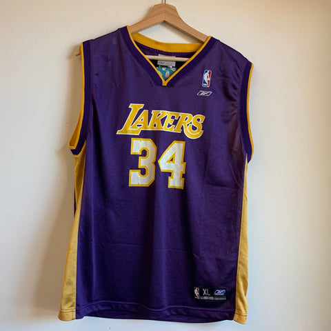 Reebok Shaquille O'Neal Los Angeles Lakers Purple/Gold Basketball Jersey