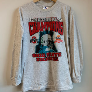 2002 Ohio State Buckeyes National Champions Long Sleeve Tee Shirt