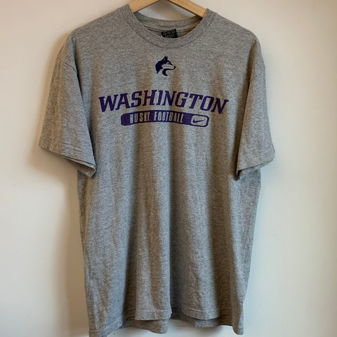 Nike Washington Huskies Football Gray Tee Shirt