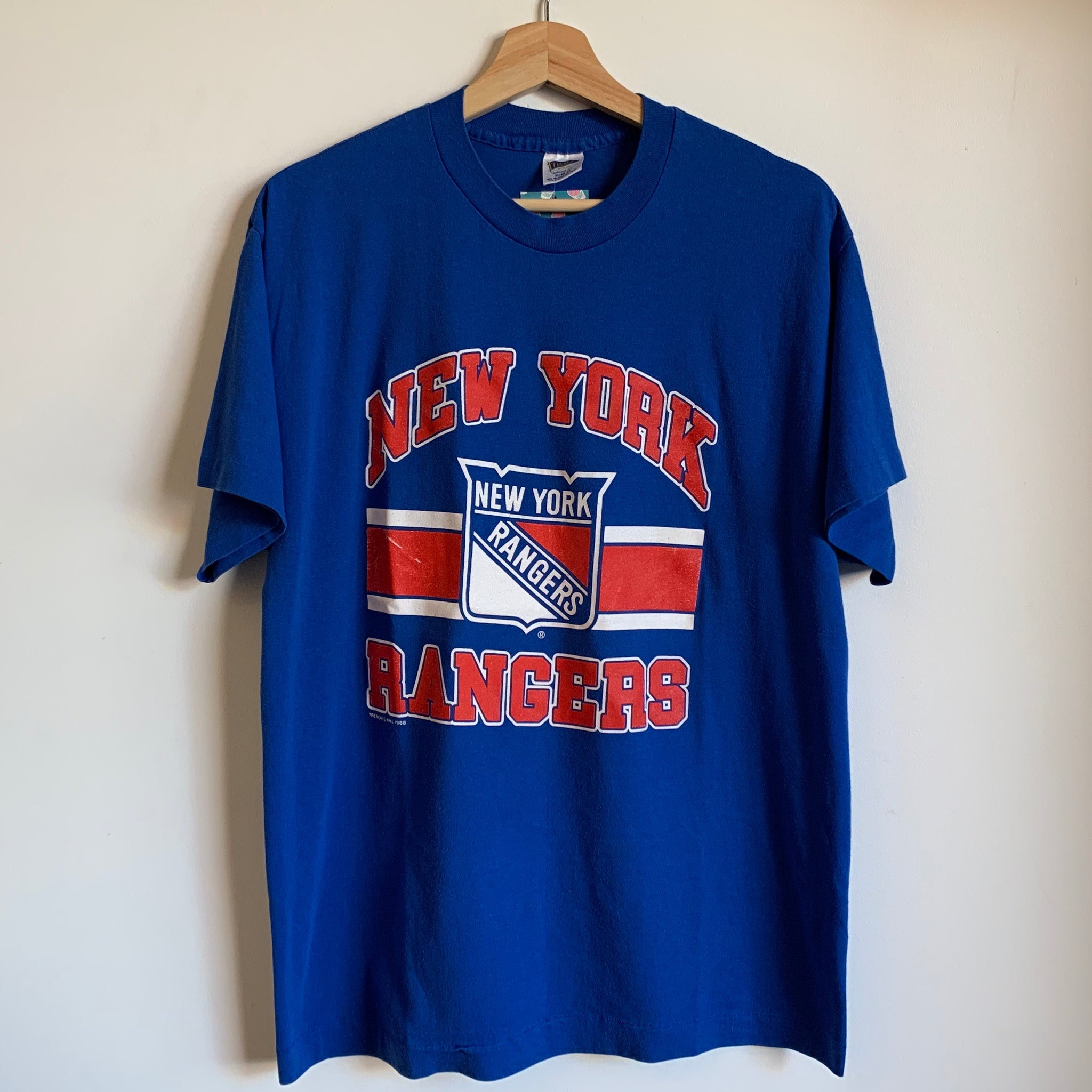 1988 Trench New York Rangers Blue Tee Shirt