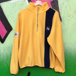 Nautica Competition Yellow Fleece Pullover