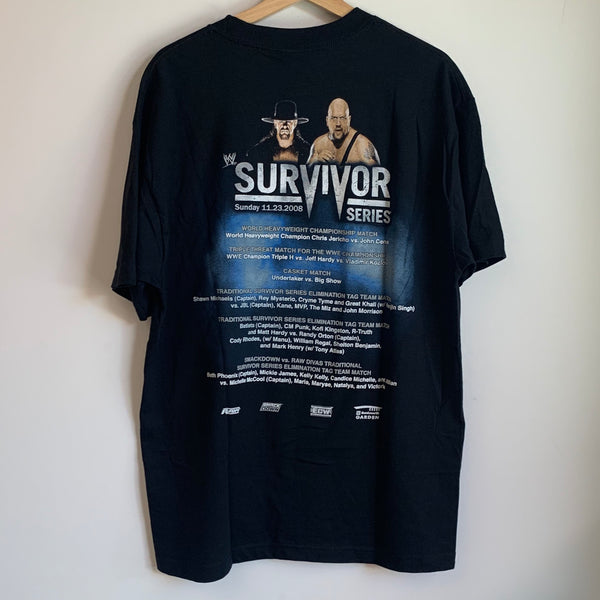 WWE 2008 Survivor Series Black Tee Shirt