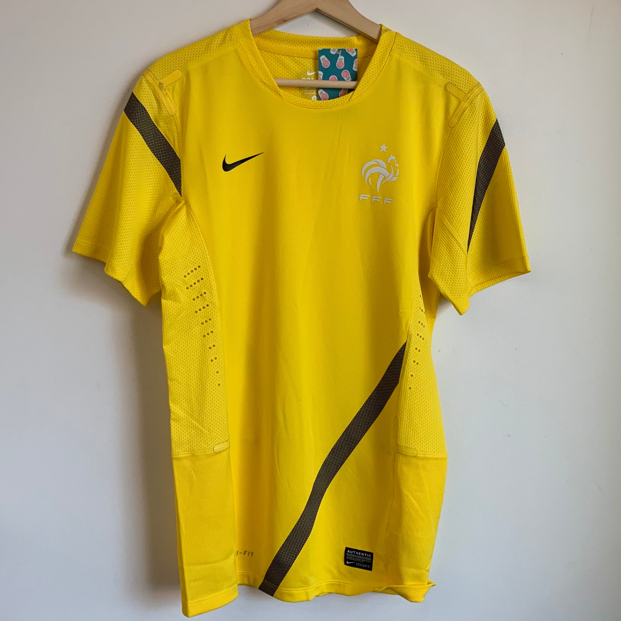 Nike France Yellow Soccer Training Jersey