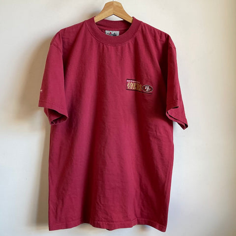 Majestic San Francisco 49ers Embroidered Red Tee Shirt