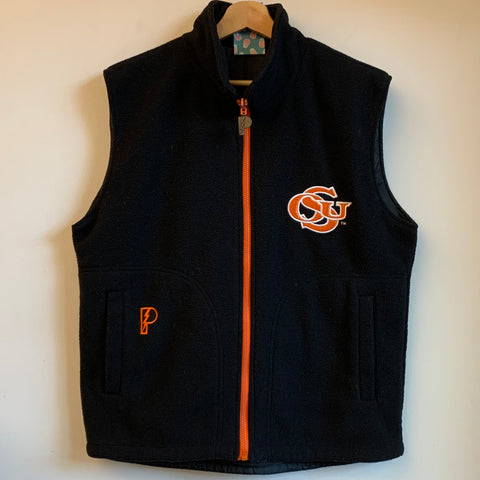 Pro Player Oregon State OSU Beavers Black Fleece Vest