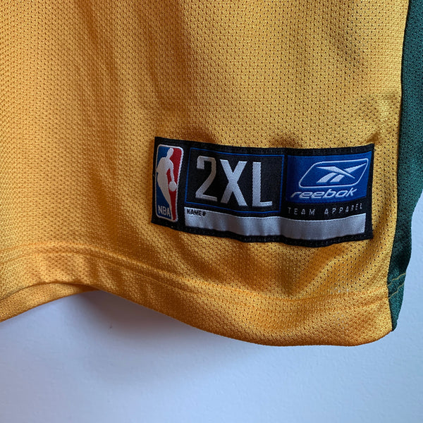 Reebok Gary Payton Seattle SuperSonics Yellow Basketball Jersey