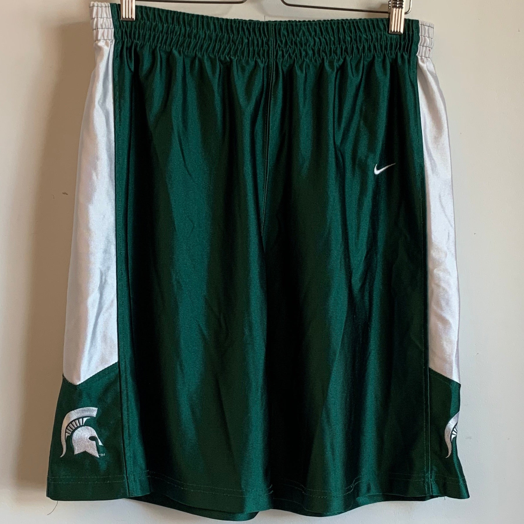 Nike Team Michigan State Green Shorts