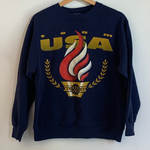 Team USA Olympics Navy Crewneck Sweatshirt