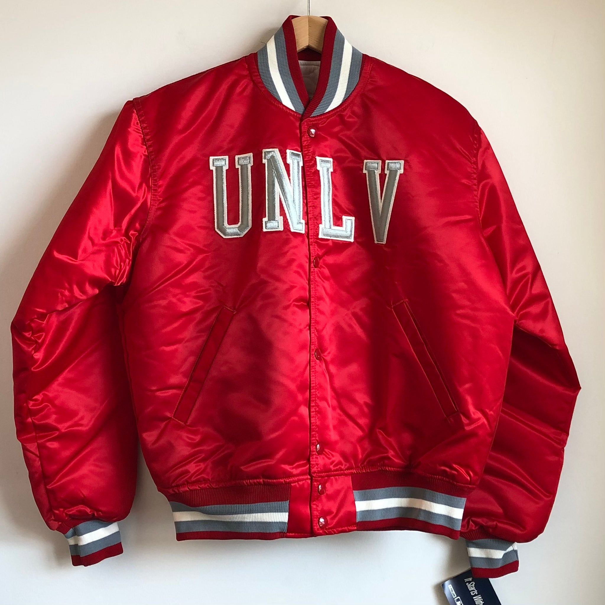 Starter UNLV Runnin' Rebels Red Satin Jacket