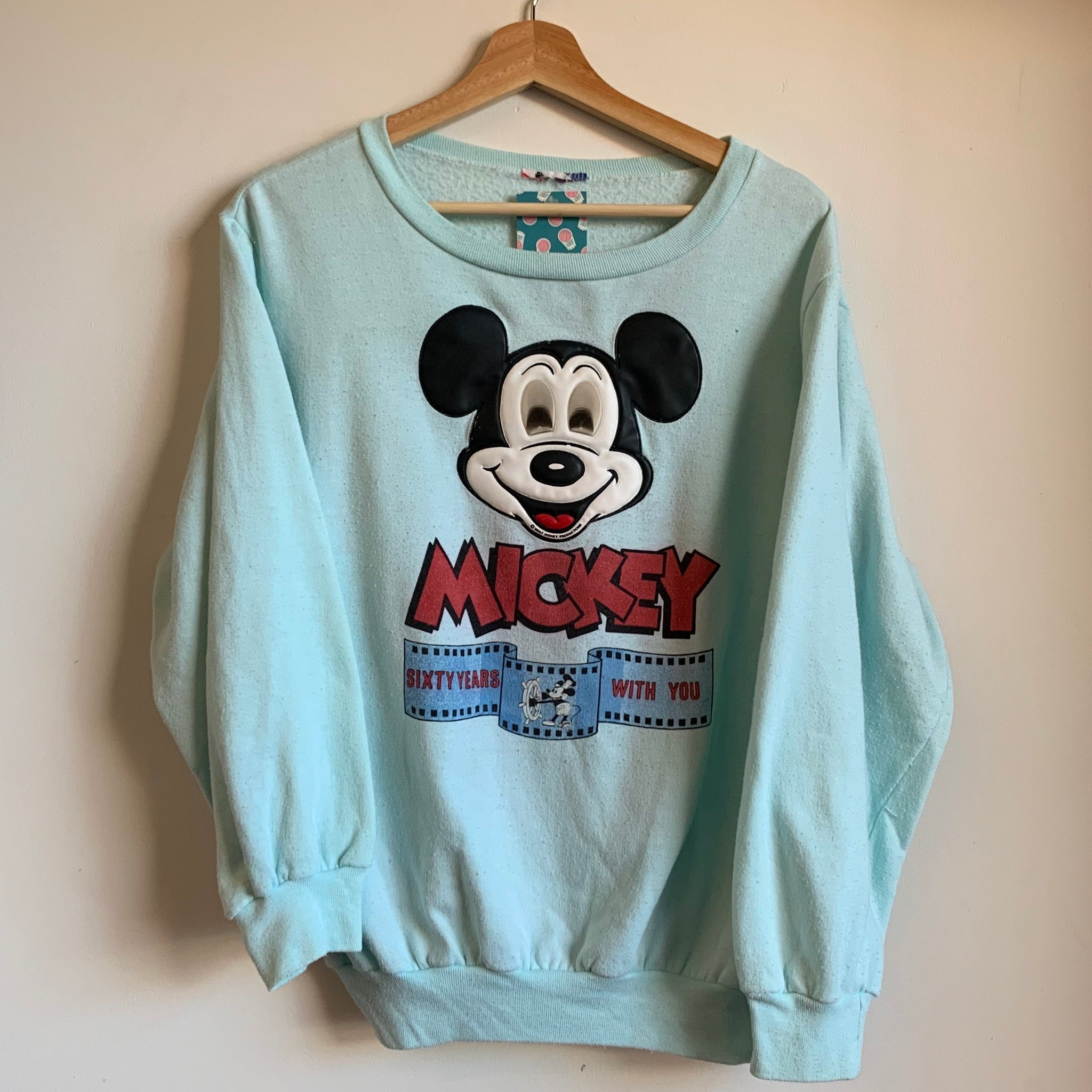 "Mickey Mouse ""Sixty Years With You"" Blue Crewneck Sweatshirt"