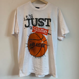 "Portland Trail Blazers ""Basketball Is Life"" White Tee Shirt"