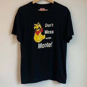 Monte Alban Mezcal Tequila Don't Mess With Monte! Black Tee Shirt