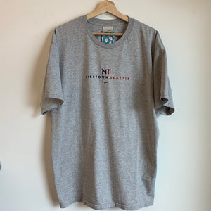 Nike Town Seattle Gray Embroidered Tee Shirt