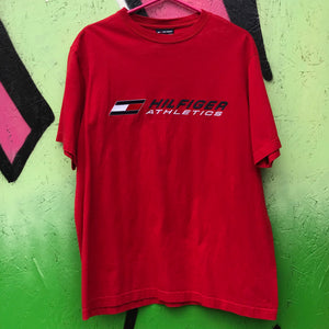 Tommy Hilfiger Athletics Red Logo Tee Shirt