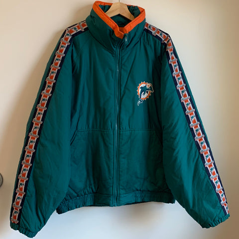 Game Day Miami Dolphins Teal Parka Jacket