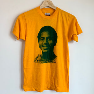 1970s Lonnie Shelton Seattle SuperSonics Yellow Tee Shirt
