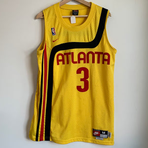 Nike Shareef Abdur-Rahim Atlanta Hawks 1974 Rewind Yellow Swingman Basketball Jersey