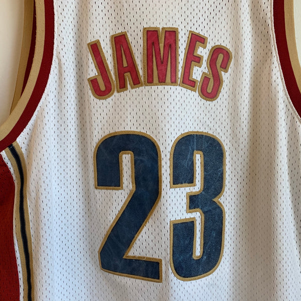 Nike LeBron James Cleveland Cavaliers White Swingman Basketball Jersey